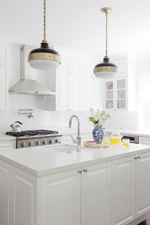 White kitchen with murray feiss cadence 2 light pendants white kitchen with murray feiss cadence 2 light pendants aloadofball Images
