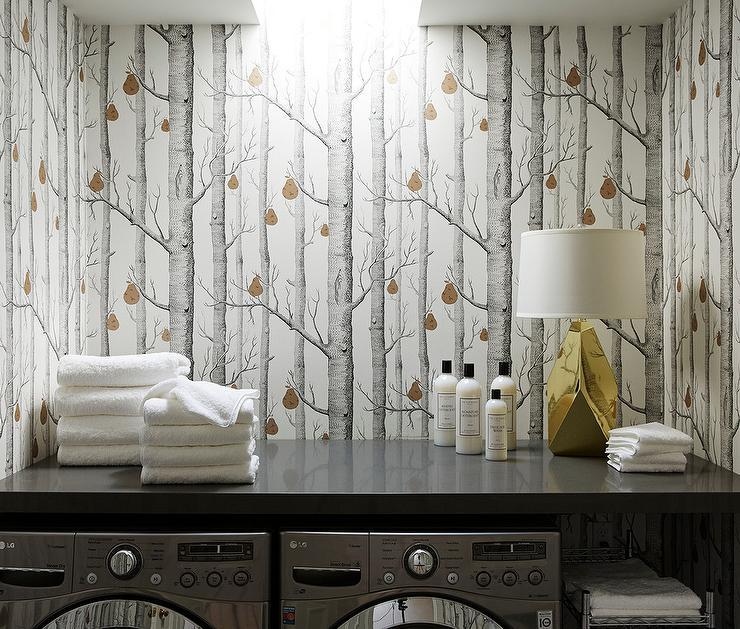 Living Room Woods Wallpaper Design Ideas