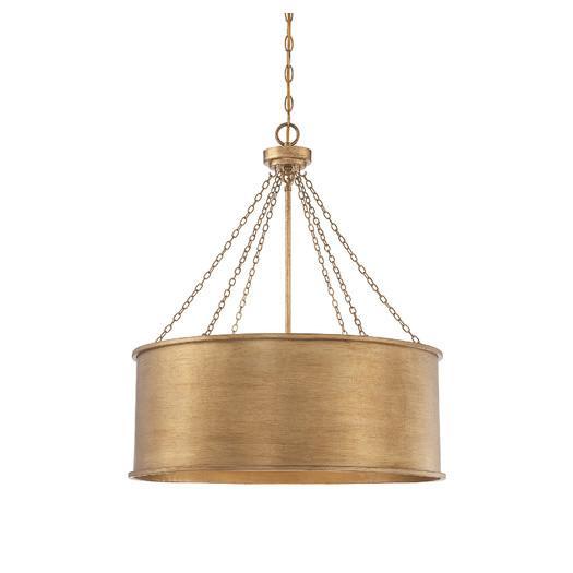 Gold chain hung drum pendant aloadofball Gallery