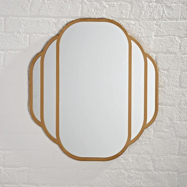 Art Deco Wall Mirror rounded edges art deco wall mirror