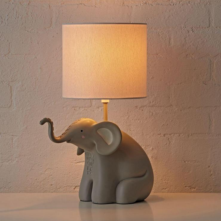 Gray Elephant Table Lamp