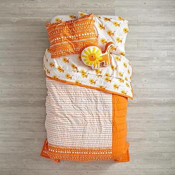 Orange Chevron And Geometric Diamonds Duvet Cover