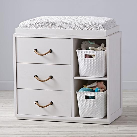 Cool White Three Drawer Two Shelf Changing Table Download Free Architecture Designs Embacsunscenecom