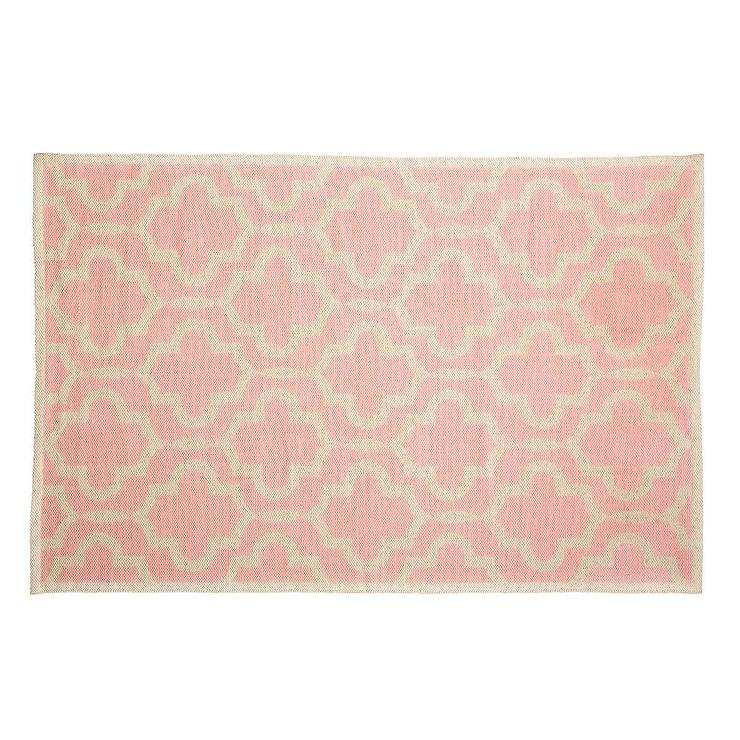 fretwork pink and cream rug - Martha Stewart Rugs