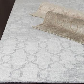 Handmade Cambridge Moroccan Silver Wool Rug Overstock Com