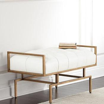 Addyson Gold White Bench Products Bookmarks Design Inspiration And Ideas