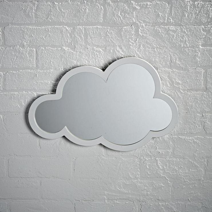 Cloud Shaped Wall Mirror