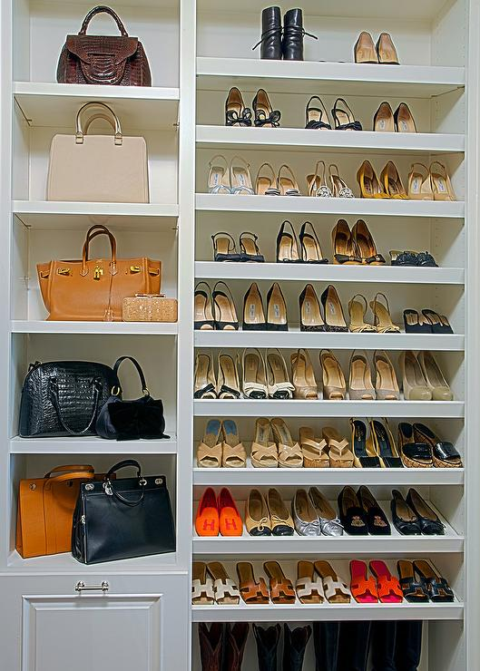 Floor to ceiling shoe shelves design ideas for Diy wall shelves for shoes
