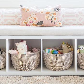 Alyssa Rosenheck: Freestanding Nursery Storage Bench Window Seat
