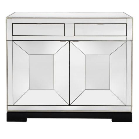 Z Gallerie Salvatore Antiqued Mirrored Bar Cabinet