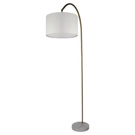 Arc marble floor lamp marble base white curved body floor lamp aloadofball Choice Image