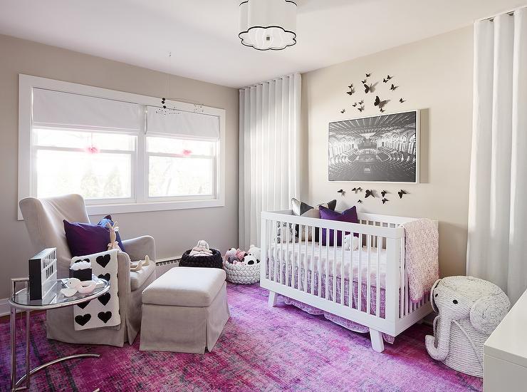 Purple Nursery Accents