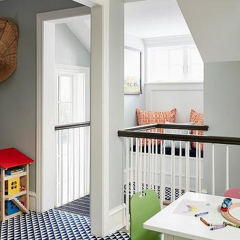 Contemporary Playroom With Reading Nook