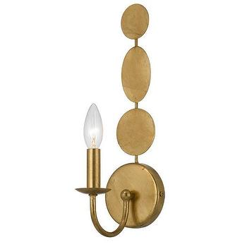 Circular Wall Sconce Candle Holder : Cirque Silver Wall Sconce