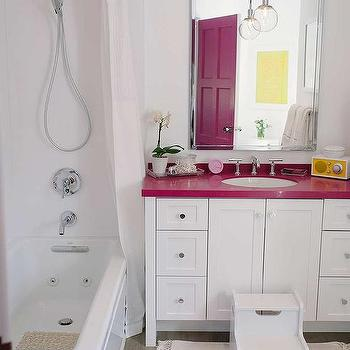 Pink Kohler Sink Contemporary Bathroom
