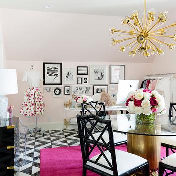 Pink Feminine Office Design