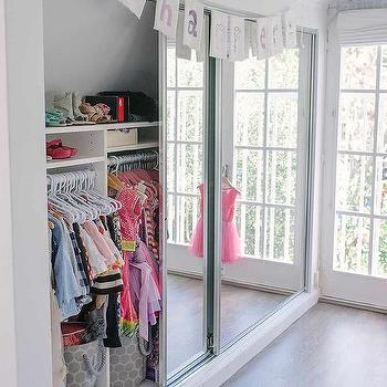Kids Room Sliding Mirrored Closet Doors Design Ideas
