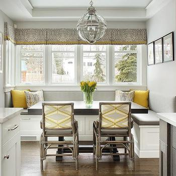Vaulted Ceiling Breakfast Nook Design Ideas