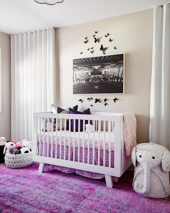 Purple Nursery With Alphabet Chest Contemporary Nursery