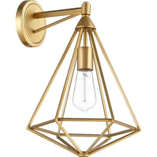 sc 1 st  Decorpad & Aged Brass Geometric Caged Wall Sconce