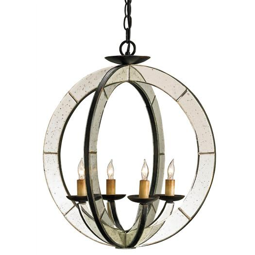 pottery chandelier round products dumont mirrored m barn