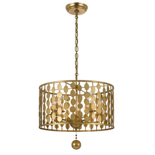 Golden Chandelier - Products, bookmarks, design, inspiration and ...:Golden Medallions Drum Chandelier,Lighting