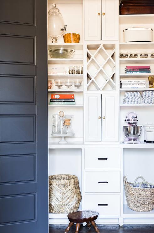 White Kitchen Pantry black and white kitchen pantry design ideas