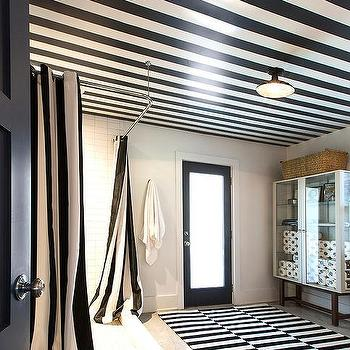 Frosted glass sliding barn shower door design ideas for Black and white striped bathroom accessories