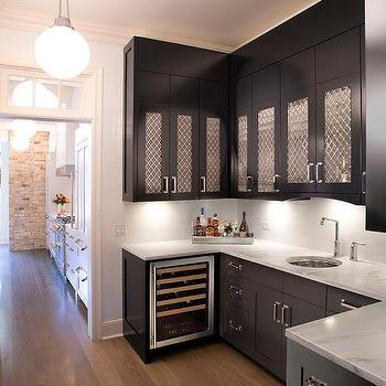 Grille Pantry Cabinet Doors Design Ideas