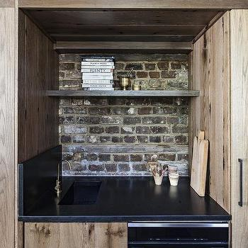 Knotty Pine Wood Wet Bar Cabinets