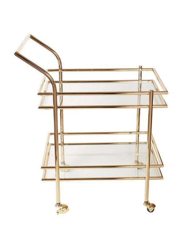 American Atelier Metal Frame Rolling Cart View Full Size