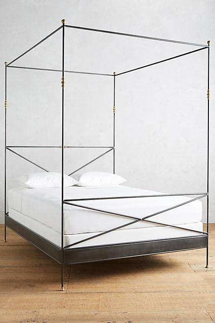 Black Iron Poster Bed