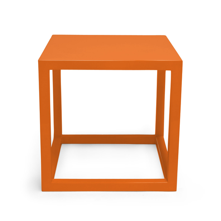 Orange look 4 less and steals and deals for Cube side table