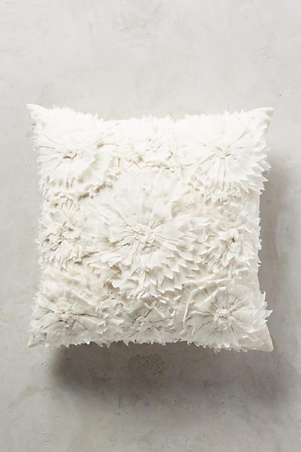 Silver Sequined Textured Pillow
