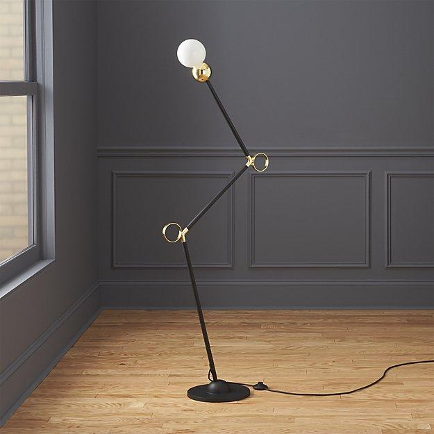 Black And Gold Exposed Bulb Lamp