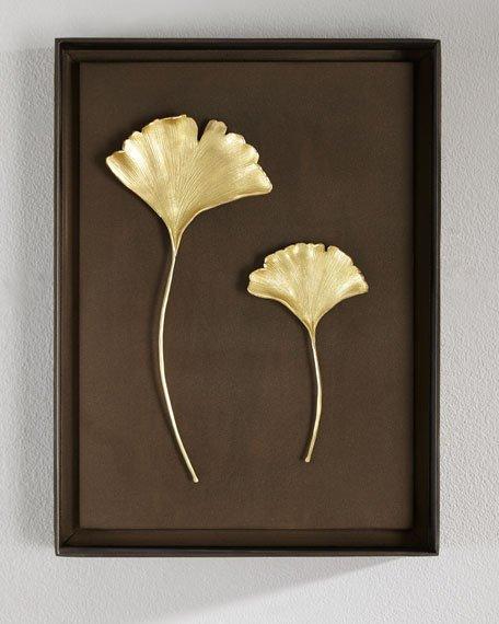 Leaf Wall Art gold gingko leaves wall art