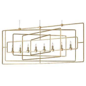 Six Light Iron Candelabra Chandelier