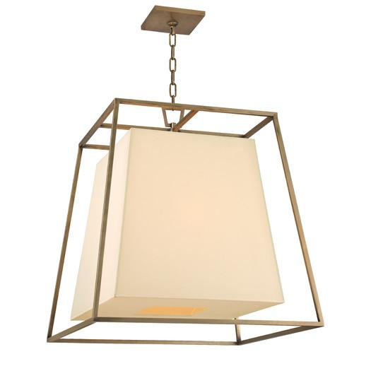 Frame Cream Shade Six Light Chandelier