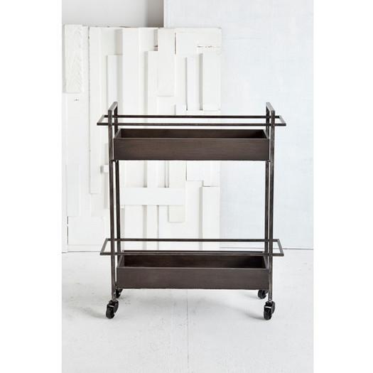 Wood And Metal Jackson Kitchen Cart: Bryant Grey Mobile Kitchen Cart