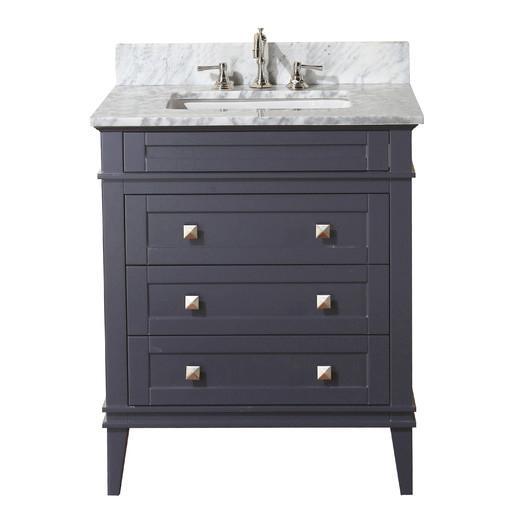 Gray Three Drawer Bathroom Vanity Set