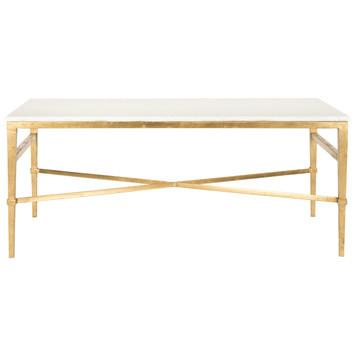 Marble Top Brass Coffee Table.Asta Marble Coffee Table