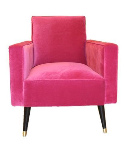 Bright Pink Upholstered Chair