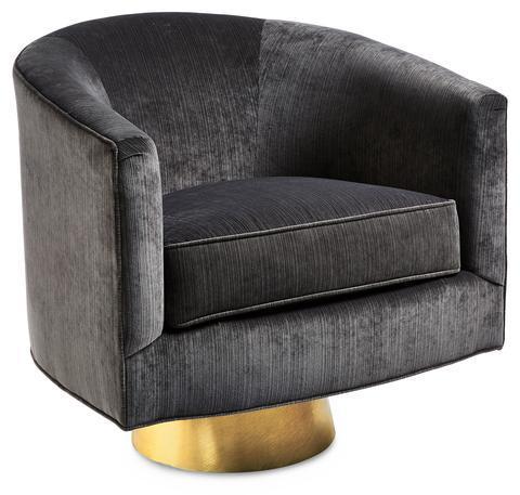 Gray Barrel Upholstered Chair