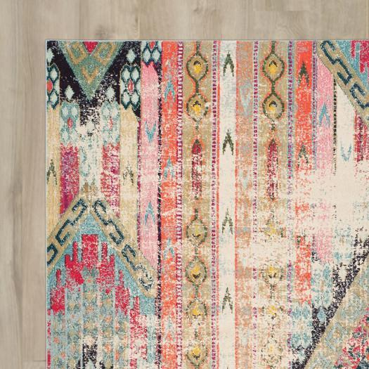 dblu rag blue rug x woven ft rugs decorative chin chindi bohemian boho colorful