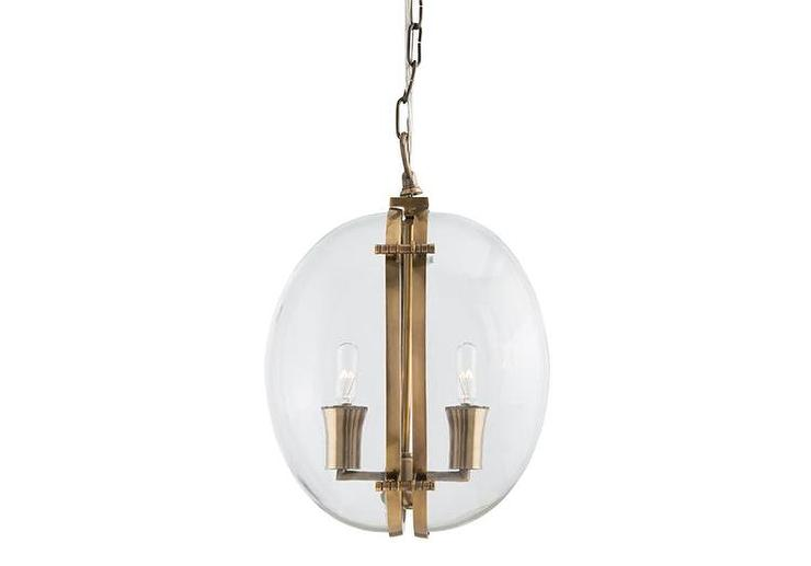 Round two light brass candle pendant aloadofball Images