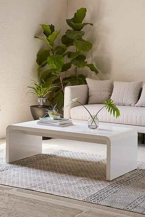Waterfall Curved Coffee Table