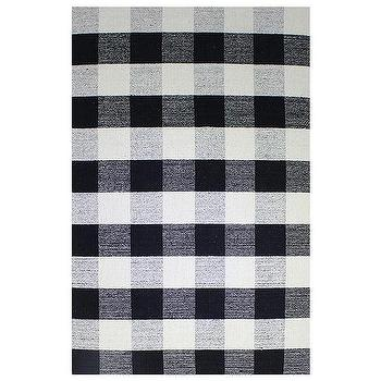 Black And White Gingham Rug