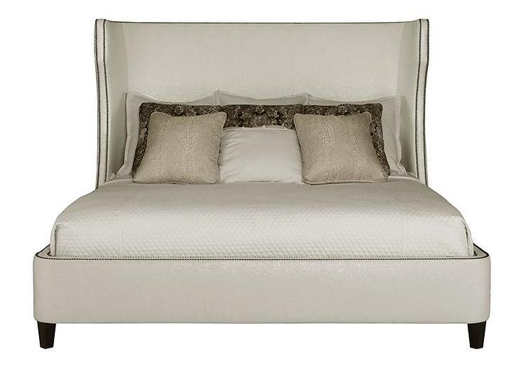 Upholstered Wingback Bed King Winged Upholstered Bedclean