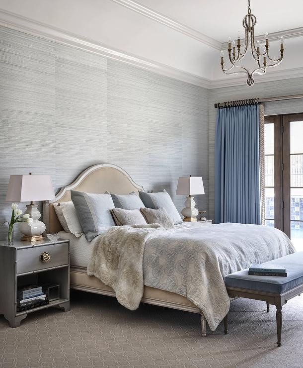 Gray and Blue French Bedrooms French Bedroom