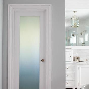 Frosted Glass Bathroom Door Design Ideas